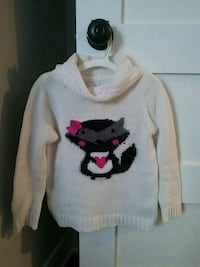 white and black animal-printed knitted sweater Hoffman Estates, 60192