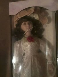 girl doll wearing white dress Flint, 48507