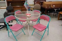Out door  watermelon themed table set Moore