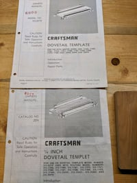 Craftsman USA Router & Dovetail Jig with Guide Bushings All Original