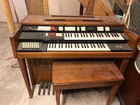 Free organ, I know nothing about it except that it turns on and music comes out when I press the keys. It was left in my home when I bought it and if someone doesn't take it, it is going to the dump. It is very heavy so bring help for lifting it if you co