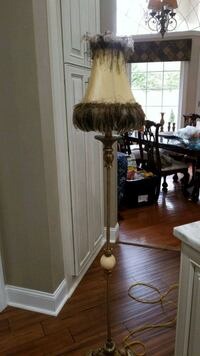 Old lamp real feathers Lamp