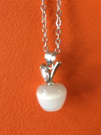Sterling Silver Chain with Opal Apple Charm Aldie, 20105