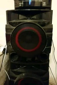 black and red subwoofer speaker Falls Church, 22041