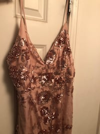 Rose Gold Mesh Prom Dress Arlington, 22203