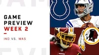 REDSKINS AND COLTS OPENING GAME AT HOME Severn, 21144