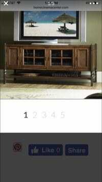 brown wooden TV stand with flat screen television Woodbridge, 22192