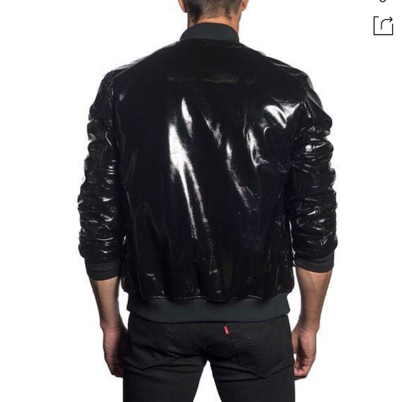 Men's Jared Lang paid $600 size XXL (fits like XL) Patent Leather Bomber jacket. Excellent condition never worn! Great jacket 81e760e8-607b-42b9-87d9-d45f1b13d64c