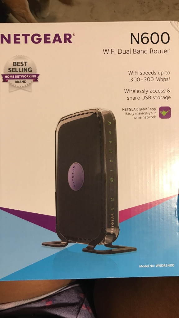 Netgear N600 WiFi dual-band router box, used for sale  Tucson