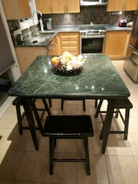 Marble top table plus stools Milton, L9T 5Z9