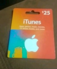 $ 25 iTunes gift card Winnipeg, R2H 0V6