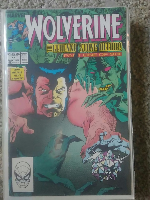 f6983ee83d3 Used Marvel Comics Wolverine The Gehenna Stone Affair! Part one of ...