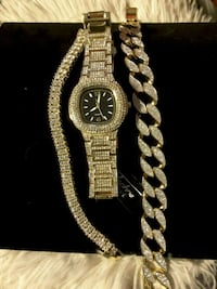 JUST IN Iced-Out Watch & pick of 1 Braclete>Set 70$ Ladson, 29456