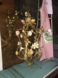 Gorgeous gilded flower wall lamp . Hanging - not electrified Westport, 06880