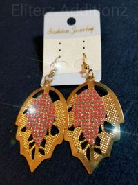 Gold/Red Earrings  Mission, 78572