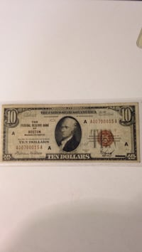 1929 $10 National Currency Winchester, 22602