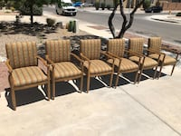 6 stripped pattern chairs southwest style Albuquerque, 87114