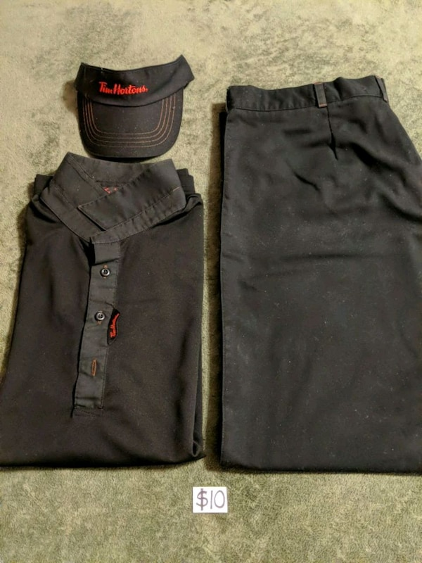 Full Set of Men's Tim Horton Uniform Size L