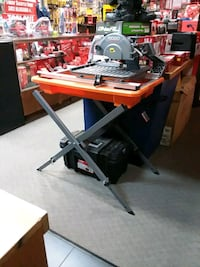 """Ridgid 7"""" wet/dry tile saw with stand NEW  Redlands, 92373"""