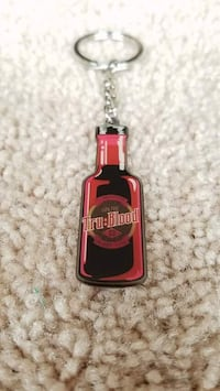black and red Tru Blood bottle keychain Baltimore, 21202