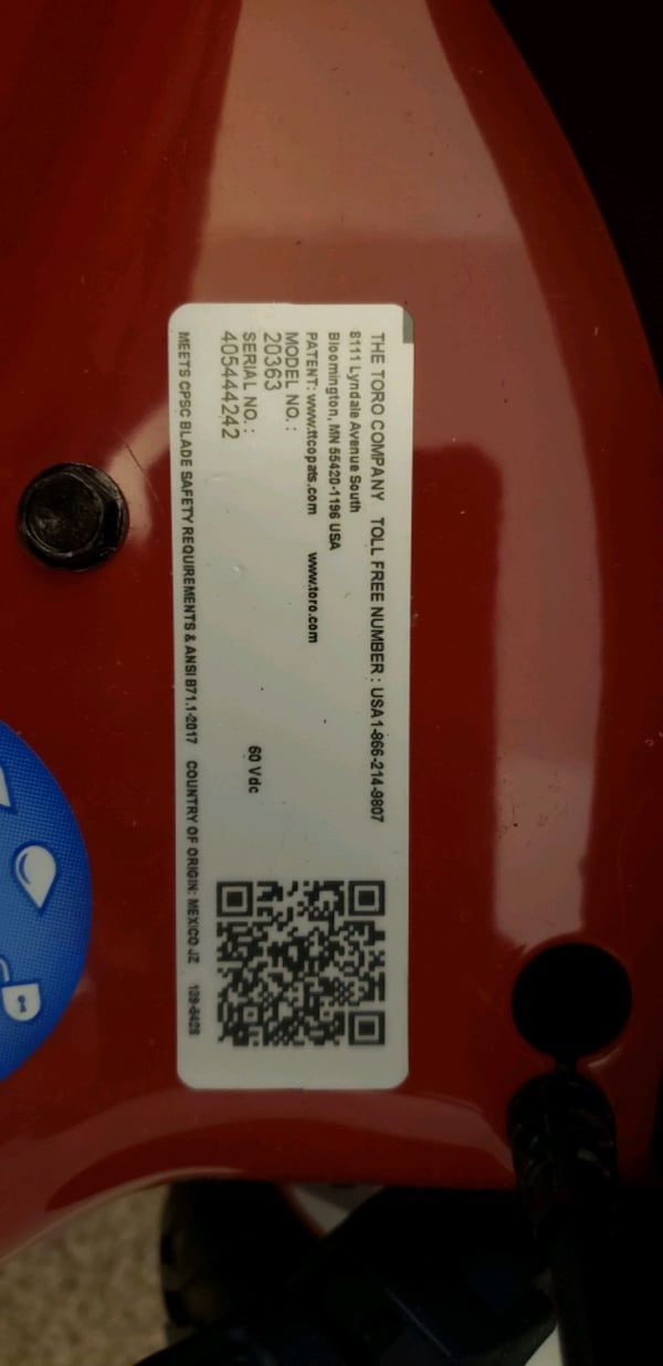 Brand new Toro 60v lawn mower with battery and charger. 57496afd-68e4-4b9b-a393-6b8a00c49ff7