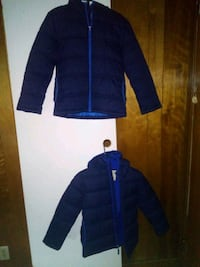 kids blue bubble jackets