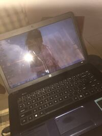 black and gray laptop computer null