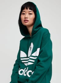 BRAND NEW WITH TAGS ADIDAS GREEN WOMENS SIZE MED HOODIE