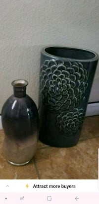 two black ceramic candle holders Odessa, 79762