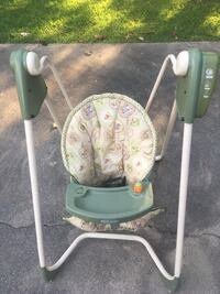 baby's green and white swing chair Thomasville, 27360