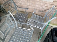 Wrought Iron 3 chairs and table set - Silver Vaughan, L4H 1V9