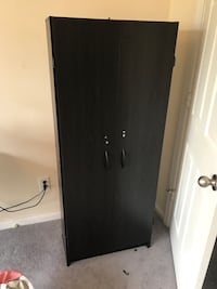 Black wooden 2-door cabinet Norfolk, 23504