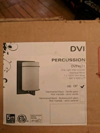 white DVI percussion wall sconce box Toronto, M4R 1X6