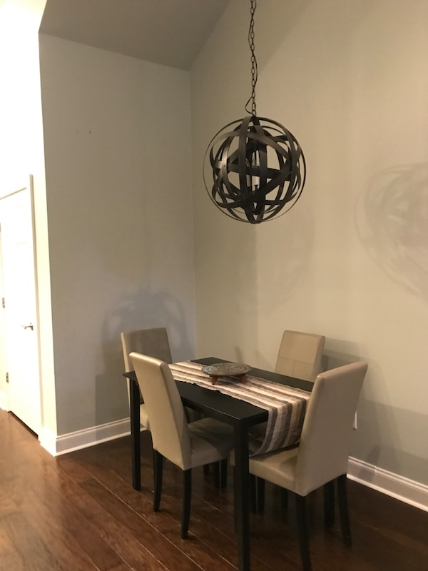 Used Dining Room Table And 4 Grey Chairs Price Negotiable For Sale In Nashville