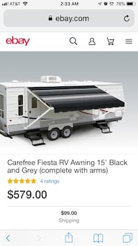 RV Awning 15' replacement white.