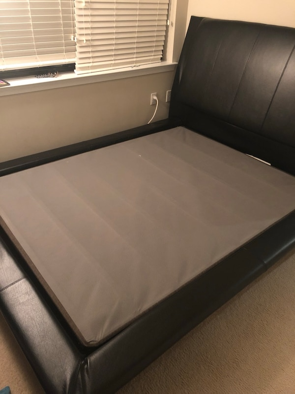 black and white ottoman bed