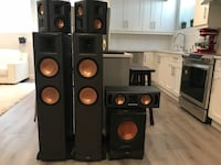 Klipsch home theater sound system. Top of the line European sound system. Rf82 towers x2, klipsh Rs42 x2, RC52 center channel, and Rw10D subwoofer. Paid over $7000 for them! Langley, V2Z 0S2