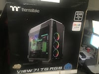 ThermalTake Cyberpower PC View 71 TG RGB Box Only Silver Spring
