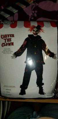 Carver the clown adult halloween costume. Queens, 11416