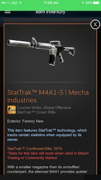 StatTrak M4A1-S mecha industries fac new