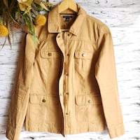 Tommy Hilfiger Zip/Buttons Denim Camel Jacket S