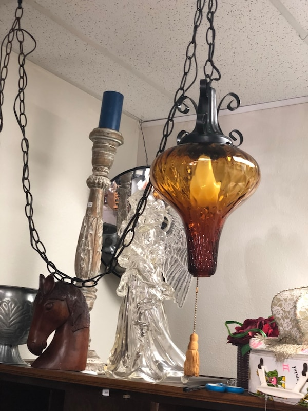 Vintage Small Hanging Lamp Plug In West Side