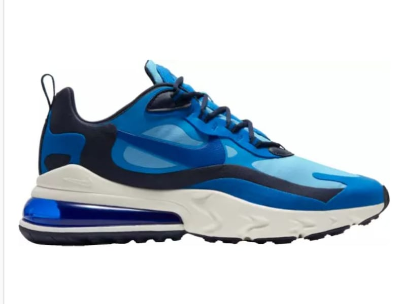 Used Nike Air Max 270 React Blue Black White Mens For Sale In