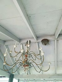 white and black uplight chandelier Belleview, 34420