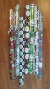 Assorted wrapping paper