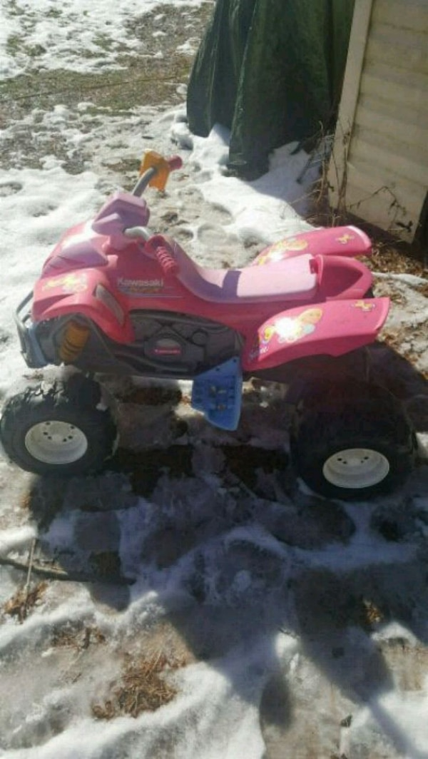 red and black ATV ride-on toy