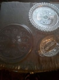 Crystal serving Tray, The Pioneer Woman serving tray &l and Candy dish