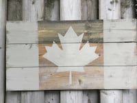 Wooden Canadian flag  Kitchener, N2H 4R9