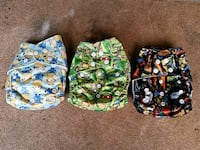 three assorted color floral backpacks Bremerton, 98310
