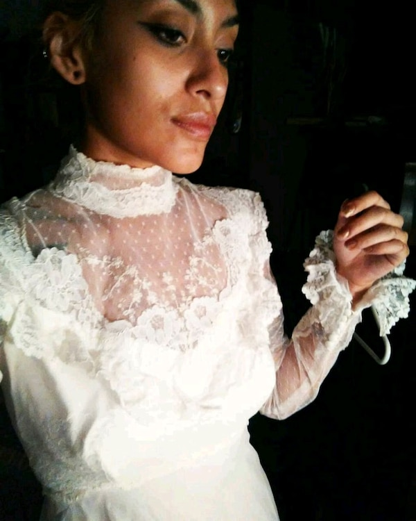 Used Vintage Victorian Lace Wedding Dress For Sale In Griffin Letgo